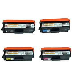 Replaces Brother TN310 - Remanufactured for TN310BK, TN310C, TN310Y, TN310M Toner Cartridge Set of 4