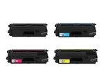 Remanufactured Brother TN339 4-Color Laser Toner Cartridge Set
