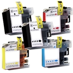 Replaces Brother LC103 - Compatible with LC103BK, LC103C, LC103M, LC103Y Super High Yield Ink Cartridge Set of 4