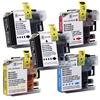 Compatible Brother LC107/105 5-Pack Super High Yield Ink Cartridge Set