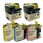 Brother LC10E Super High Yield Ink Cartridges, 5-Pack Set