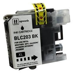 Compatible Brother LC203BK Black Ink Cartridge - Replacement Ink Cartridge for MFC-J4320DW. MFC-J4420DW, MFC-J4620DW, MFC-J5520DW, MFC-J5620DW, MFC-J5720DW