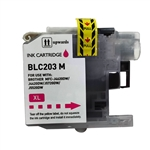 Compatible Brother LC203M Magenta Ink Cartridge - Replacement Ink Cartridge for MFC-J4320DW. MFC-J4420DW, MFC-J4620DW, MFC-J5520DW, MFC-J5620DW, MFC-J5720DW