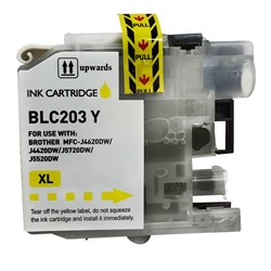 Compatible Brother LC203Y Yellow Ink Cartridge - Replacement Ink Cartridge for MFC-J4320DW. MFC-J4420DW, MFC-J4620DW, MFC-J5520DW, MFC-J5620DW, MFC-J5720DW