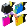 Compatible Brother LC75 4-Color Ink Cartridge Set