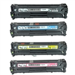 Remanufactured Canon 131 4-Color Laser Toner Cartridge Set