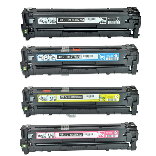 canon 131 4 color laser toner cartridge set colortonerexpert. Black Bedroom Furniture Sets. Home Design Ideas