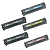 Replaces Canon 131 - Remanufactured for Canon 131 Laser Toner Cartridge Set of 5 for Canon LBP-7110, MF8280