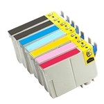 Remanufactured Epson Artisan 700, 800 Inkjet Cartridges Set of 7