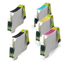 Replaces Epson T125 - Remanufactured for Epson T125120, T125220, T125320, T125420 Ink Cartridge Set of 5