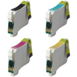 Remanufactured Epson WorkForce 60 4-Color T127 Ink Cartridge Set