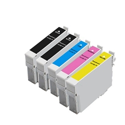 Replaces Epson T200XL - Remanufactured for Epson T200XL120, T200XL220, T200XL320, T200XL420 High Yield Ink Cartridge Set of 5