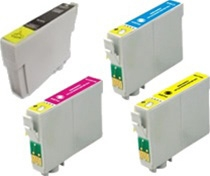 Replaces Epson T068 - Remanufactured for Epson T0681, T0682, T0683, T0684 Ink Cartridge Set of 4 for Epson Stylus C120, CX5000, NX400, NX510