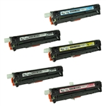 Remanufactured HP M251nw, M276nw 5-Pack Toner Cartridge Set
