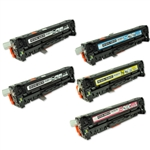Remanufactured HP 305A 5-Pack Toner Cartridge Set