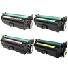 Remanufactured HP 652A, 653A 4-Pack Laser Toner Cartridge Set
