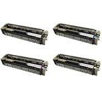 Remanufactured HP 201X 4-Color Laser Toner Cartridge Set