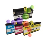HP 950XL, 951XL Set of 4 Remanufactured Ink Cartridges (1 Black, 1 Cyan, 1 Magenta, 1 Yellow)