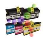 HP 950XL, 951XL Set of 5 Remanufactured Ink Cartridges (2 Black, 1 Cyan, 1 Magenta, 1 Yellow)