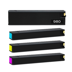 HP 980 Set of 4 (D8J10A, D8J07A, D8J08A, D8J09A) Ink Cartridge