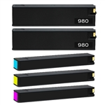 HP 980 Set of 5 (D8J10A, D8J07A, D8J08A, D8J09A) Ink Cartridge