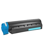 Remanufactured Okidata 43866103 Cyan Laser Toner Cartridge