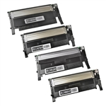 4-Color Compatible Toner Cartridge Set for Samsung CLP-360