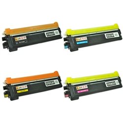 Remanufactured Brother TN210 4-Color Toner Cartridge Set