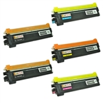 Remanufactured Brother TN210 5-Pack Toner Cartridge Set