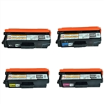 Brother Compatible TN310 for TN310BK, TN310C, TN310Y, TN310M Toner Cartridge Set of 4