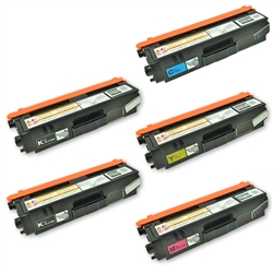 Remanufactured Brother TN315 5-Pack Toner Cartridge Set