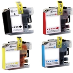 Compatible Brother LC103 4-Color High Yield Ink Cartridge Set