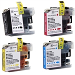 Compatible Brother LC107-105 4-Color Ink Cartridge Set