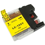 Brother Compatible LC105Y Yellow Super High Yield Ink Cartridge