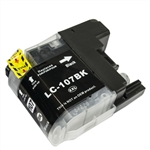 Replaces Brother LC107BK - Compatible Black Super High Yield Ink Cartridge