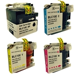 Brother LC10E Super High Yield Ink Cartridges, 4-Pack Set