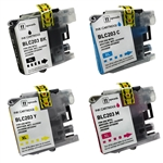 Compatible Brother LC203 Set of 4 Ink Cartridge Includes: 1 LC203BK, 1 LC203C, 1 LC203M, 1 LC203Y- Replacement Ink Catridge for MFC-J4320DW, MFC-J4420DW, MFC-J4620DW, MFC-J5520DW, MFC-J5620DW, MFC-J5720DW