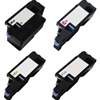 Compatible Dell 331-0777, 331-0778, 331-0779, 331-0780  High Yield Laser Toner Cartridge Set of 4 for Compatible Dell 1250, 1350