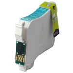 Remanufactured Epson T124220 Moderate Yield Cyan Ink Cartridge