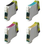 Remanufactured Epson Stylus NX124 4-Color T124 Ink Cartridge Set
