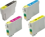 Compatible Epson T068  T0681, T0682, T0683, T0684 Ink Cartridge Set of 4 for Compatible Epson Stylus C120, CX5000, NX400, NX510