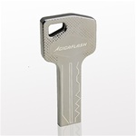 8GB GigaFlash Key-Shaped Metal USB Flash Drive - Silver