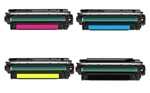 Remanufactured HP 646A 4-Color Laser Toner Cartridge Set
