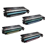 Remanufactured HP Color LaserJet CP4025, CP4525 4-Color Toner Set