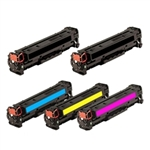 Replaces HP 312A - Remanufactured for HP CF380A,CF381A,CF382A,CF383A Toner Cartridge Set of 5 for Color LaserJet Pro M476dn, M476dw, M476nw