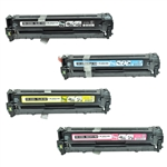 Remanufactured HP 128A 4-Color Laser Toner Cartridge Set