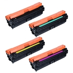 Remanufactured HP 651A 4-Color Laser Toner Cartridge Set