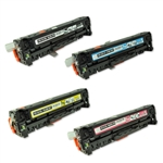 Remanufactured HP 305A 4-Color Laser Toner Cartridge Set