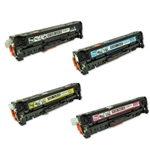 Remanufactured HP CP2025, CM2320 4-Color Toner Cartridge Set