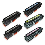 Remanufactured HP CP2025, CM2320 5-Pack Toner Cartridge Set